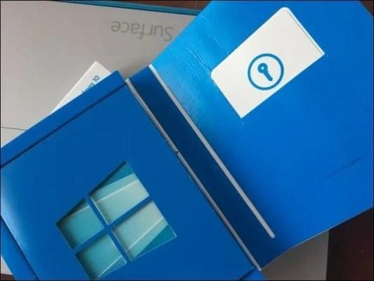 Retail Box Full Package Windows 10 Clé de produit