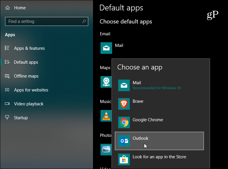 How To Change The Default Email App On Windows 10 For Mailto Links