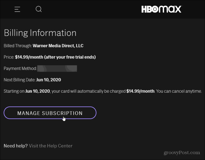 How To Cancel Your Hbo Max Subscription