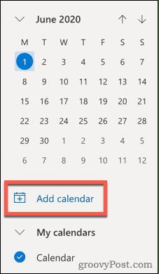Добавить значок календаря в Outlook