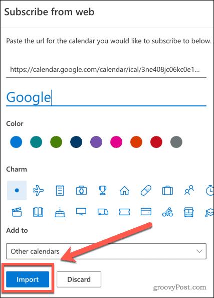Импорт Календаря Google в Outlook