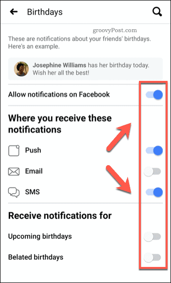 How To Disable Birthday Notifications On Facebook
