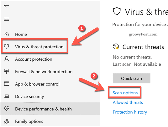 Customizing a Windows Security scan