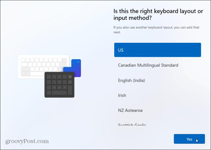 Раскладка клавиатуры установить windows 11