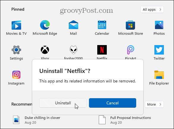Убедитесь, что удалите приложение Microsoft Store