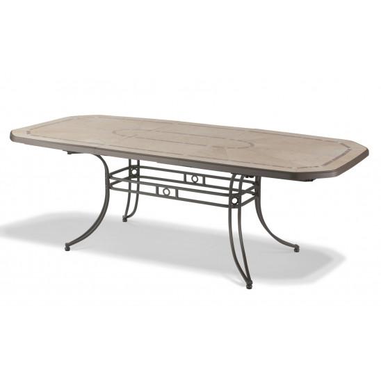 table de jardin amalfi 220 cm bronze