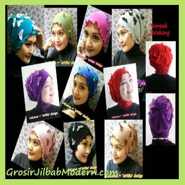 Exclusive Turban Laluna - Jersey with butterfly