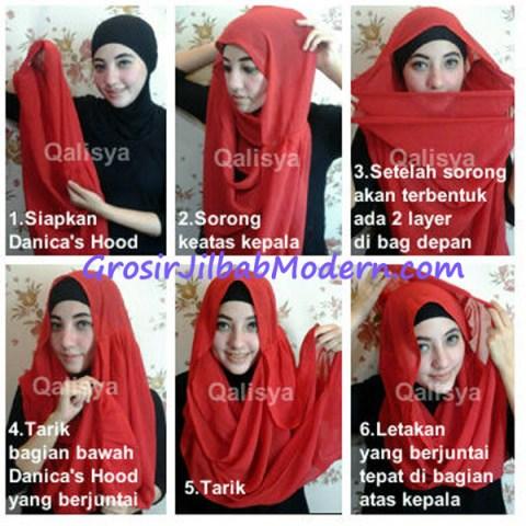 Jilbab Danica Square Hood Tutorial1
