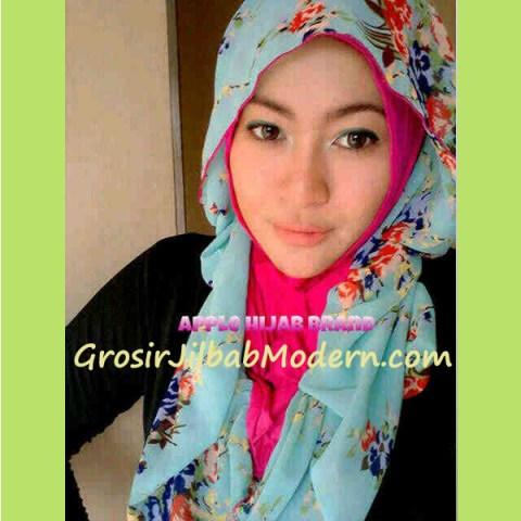 Jilbab Hoodie Alice Flower Soft Tosca
