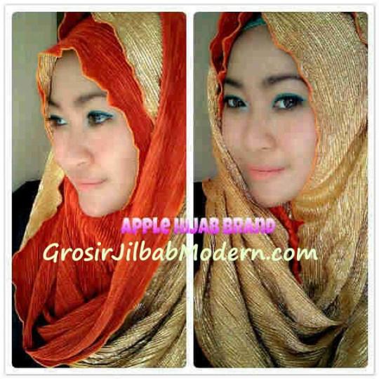 Jilbab Hoodie Cooper Orange Gold