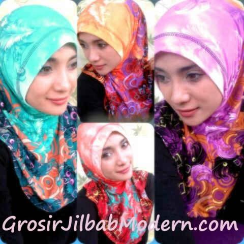 Jilbab Syria Bunga