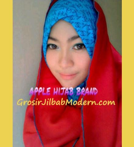 Jilbab Sharon Angel Biru Merah