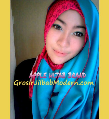 Jilbab Sharoon Angel Merah Biru