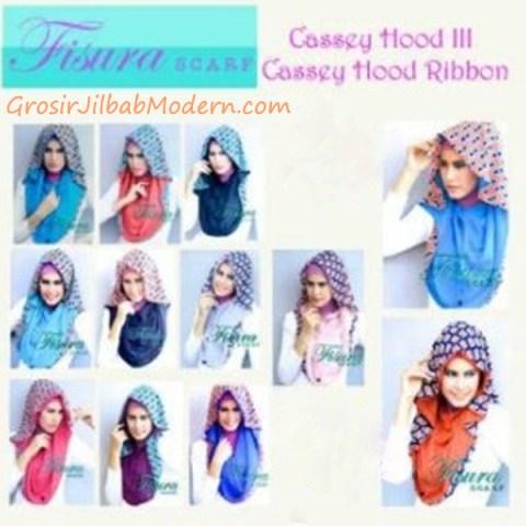 Jilbab Cassey Hood Ribbon Series