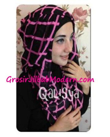 Jilbab Danica Hoodie Square Colour Pink