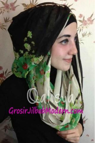 Jilbab Hoodie Danica Lisbeth 2 Hijau