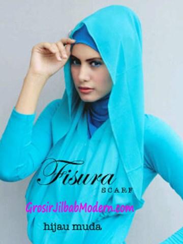 Jilbab Hoodie Rehisya Hijau Muda