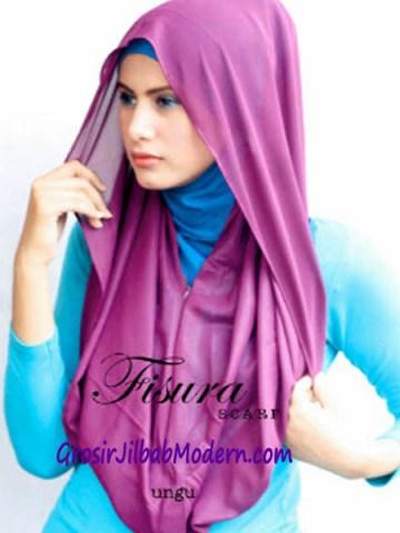 Jilbab Hoodie Rehisya Ungu