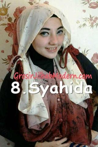 Jilbab Hoodie Talkan Putih Marun
