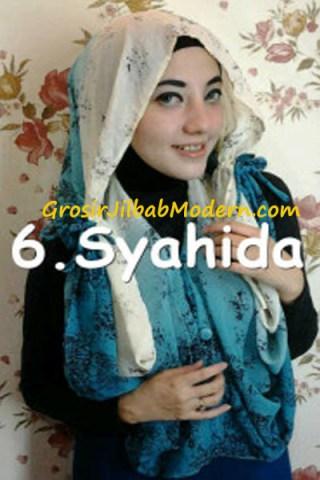 Jilbab Hoodie Talkan Putih Toska