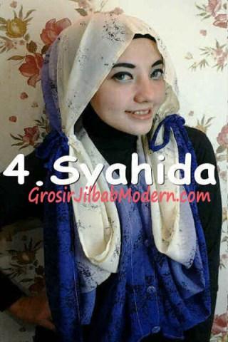 Jilbab Hoodie Talkan Putih Ungu