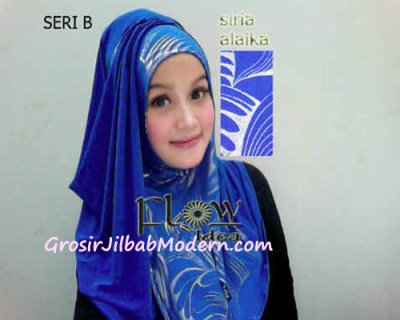 Jilbab Syria Alaika Biru SERI B