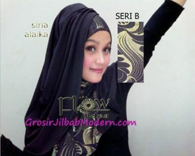 Jilbab Syria Alaika Hitam SERI B