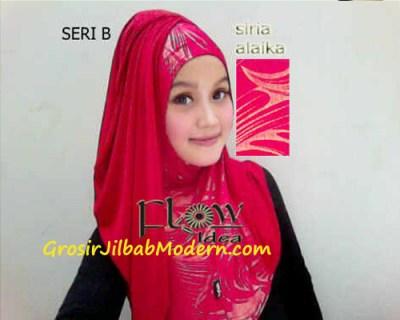 Jilbab Syria Alaika Merah SERI B