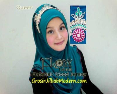 Jilbab Syria Queen Hijau Botol