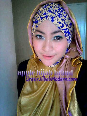 Jilbab Turban Hoodie Diane Abstrak Kuning