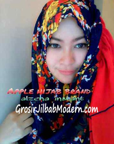 Jilbab Instant Alzena Dongker