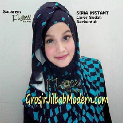 Jilbab Instant Squarein Toska
