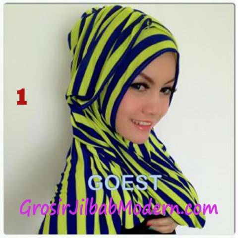 Jilbab StripTurban Lurik No 1