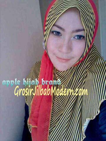 Jilbab Syria Deeba No. 06 Kuning dan merah