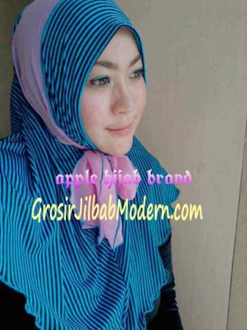 Jilbab Syria Deeba No. 10 Biru dan pink
