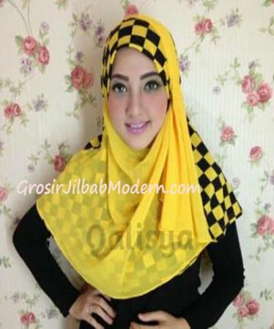Jilbab Syria Elmo No 4 Kuning Hitam