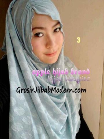 Pashmina Instan Exclusive Megan No 3 Hijau Turqiese