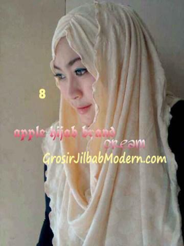Pashmina Instan Exclusive Megan No 8 Cream