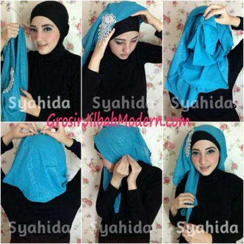 Turban Pesta Sufya Exclusive by Syahida Cara Pake Model 2