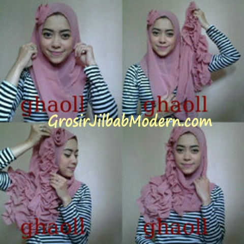 Cara Pakai Pashmina Instant Crinkle by Ghaoll