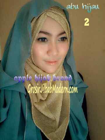 Jilbab Exclusive Jolie Gliter No 2 Hijau