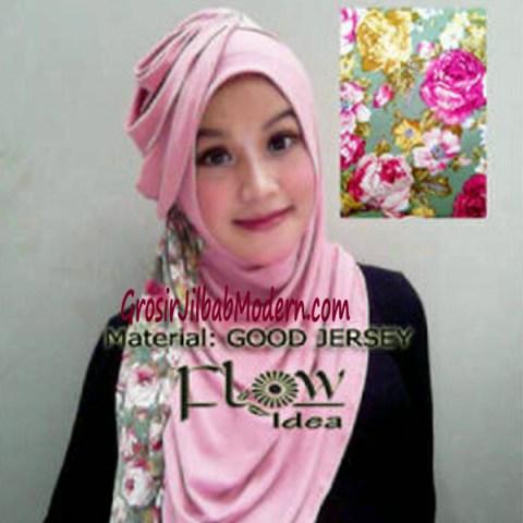 Jilbab Syria Instant Qaireen Pink