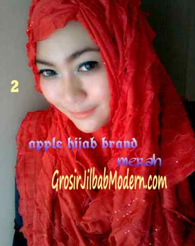 Jilbab Syrpash Ruffle Sparkling No 2 Merah