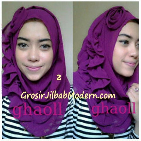 Pashmina Instant Crinkle by Ghaoll No 2 Magenta