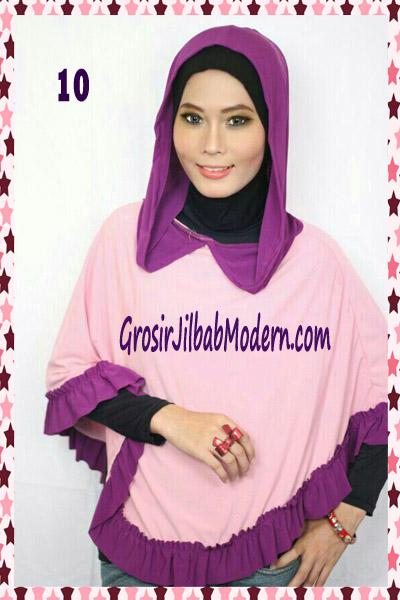 Jilbab Jumbo Capuchon No 10 Pink