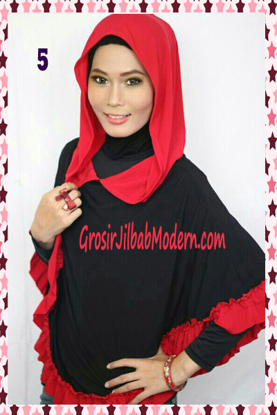 Jilbab Jumbo Capuchon No 5 Hitam
