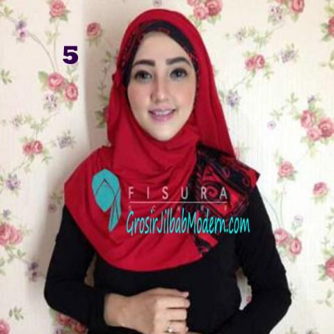 Jilbab Syria Lindsey No 5 Merah