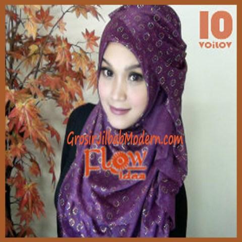 Jilbab Syria Voilov by Flow No 10 Ungu Violet