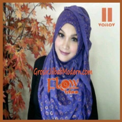 Jilbab Syria Voilov by Flow No 11 Ungu