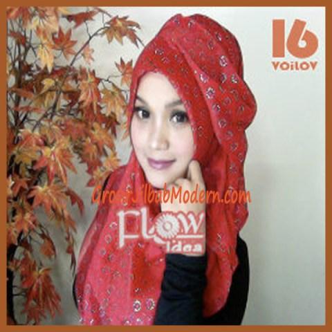 Jilbab Syria Voilov by Flow No 16 Merah